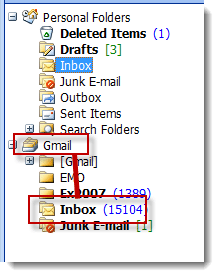 Use the pst name and construct a folder path