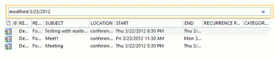 Use Instant search to find items by the modified date field