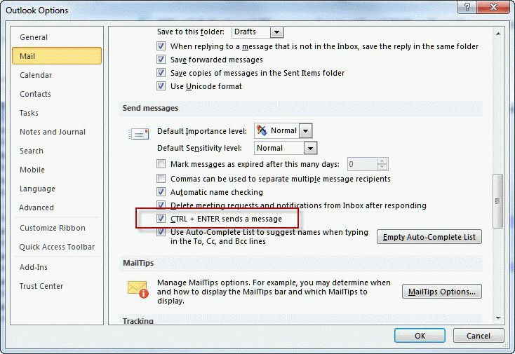 Prevent Accidentally Sending an Email Message