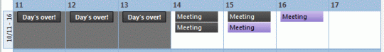 mark appointments or days finished using color categories