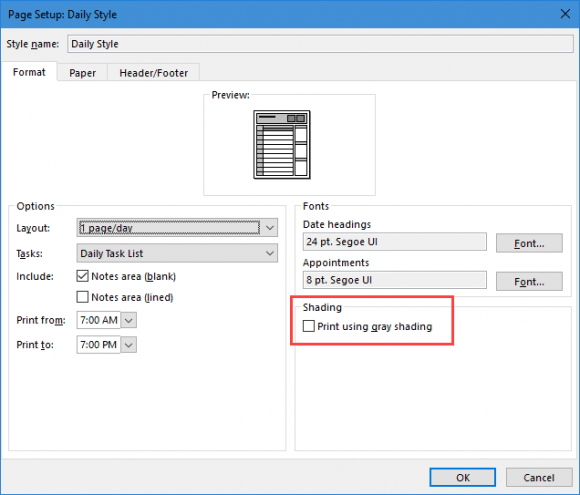 disable print in gray shading option