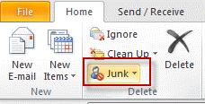 Configure Junk settings on each mailbox