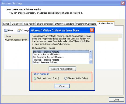 Tip 716: Change Address Book Sort Order - Outlook Tips