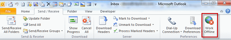 outlook mail stuck in outbox