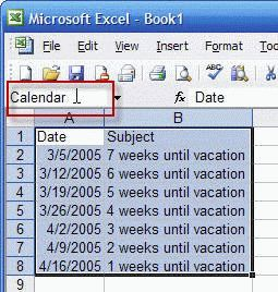 create a calendar in excel 2007
