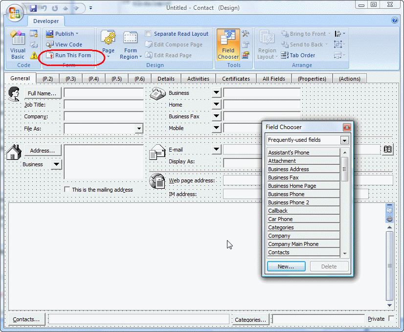 using microsoft outlook u0026 39 s forms designer