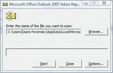 How to use Scanpst exe to repair Outlook data files