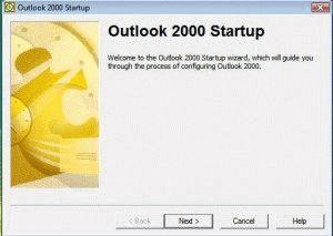Outlook 2000 setup dialog