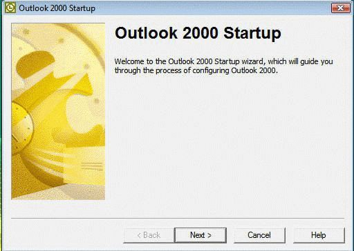 Outlook 2000 setup dialog