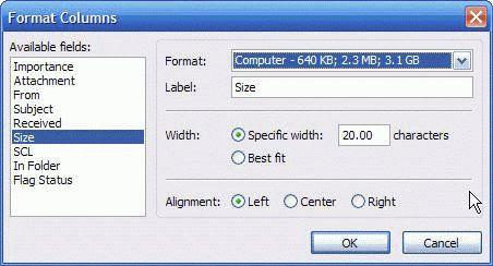 Format Columns