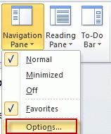Navigation pane options