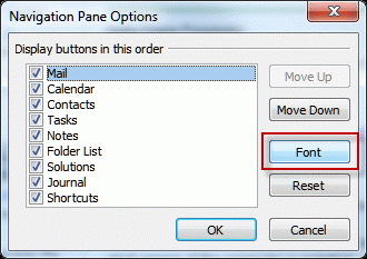 You can change the folder fonts from the Navigation pane options
