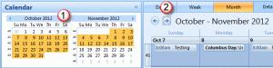 Browse calendars
