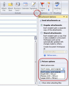 Attachment pane in Outlook 2007