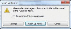 clean up dialog
