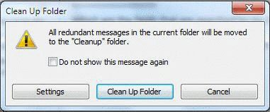 how to keep unread outlook files in a separate folder