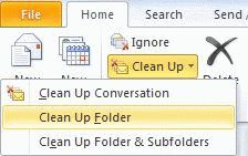 Clean Up command
