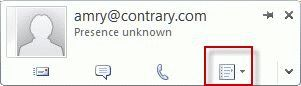 Outlook 2010's contact card