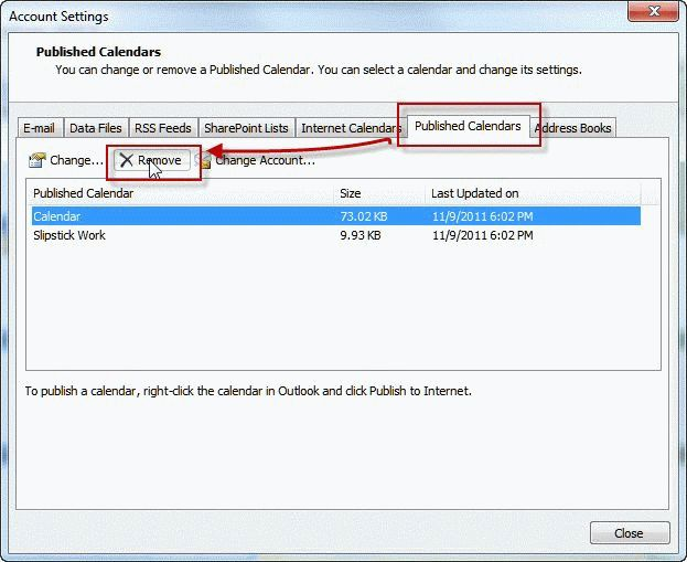 Outlook Calendar Sharing.Tip 930 How To Delete A Calendar Published To Office Com