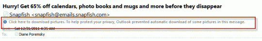 Outlook's Infobar: right click to change settings