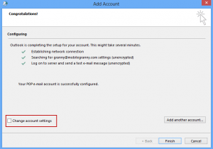 Configure settings manaully