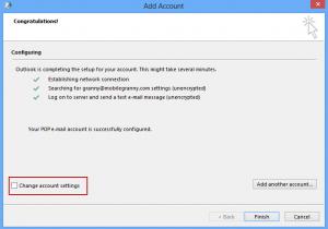 Configure settings manaully