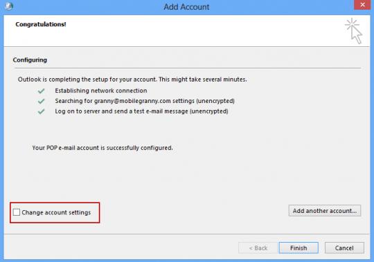 Configure settings manually