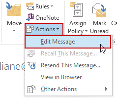 Use the Edit message command to make the message editable