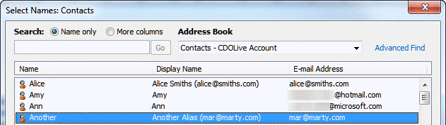 how to change outlook display name