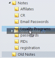 Dragging a folder with clicklock on
