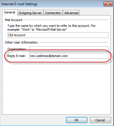 how to delete an old email address in outlook