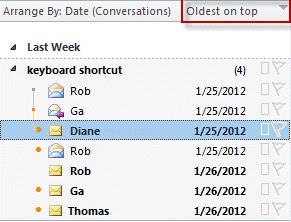 Sort oldest messages on top