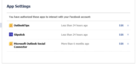 Allow Outlook app to access your Facebook data