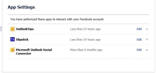 Allow Outlook app to access your Facebook data