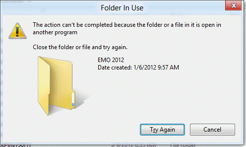 Windows folder is in user error message