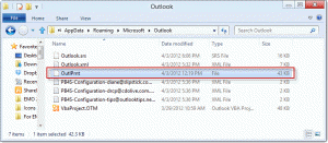 outlprnt file in Windows 8
