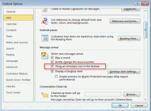 Disable the new message icon in Outlook 2010