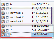 you can change the order within dates