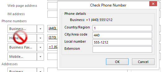 Tip 1115: Contact's Phone number formatting