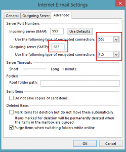 how to change pop email to imap