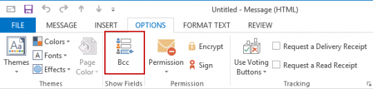 how to add bcc field to outlook meeting