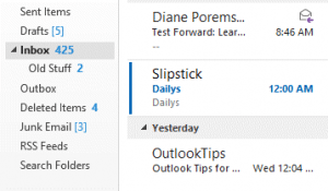 Outlook 2013 doesn't use many icons