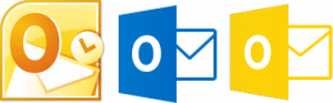 Outlook icons - orange and blue