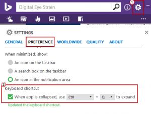Bing Desktop Settings