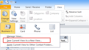 Save the view as a custom view