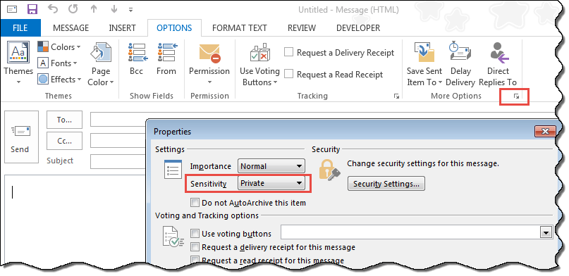 Make Outlook Appointments Private by Default