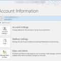 Where is File tab in Outlook?