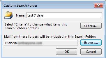 /create a custom search folder