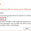 Do an online repair