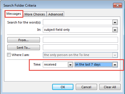 use the predefined time field